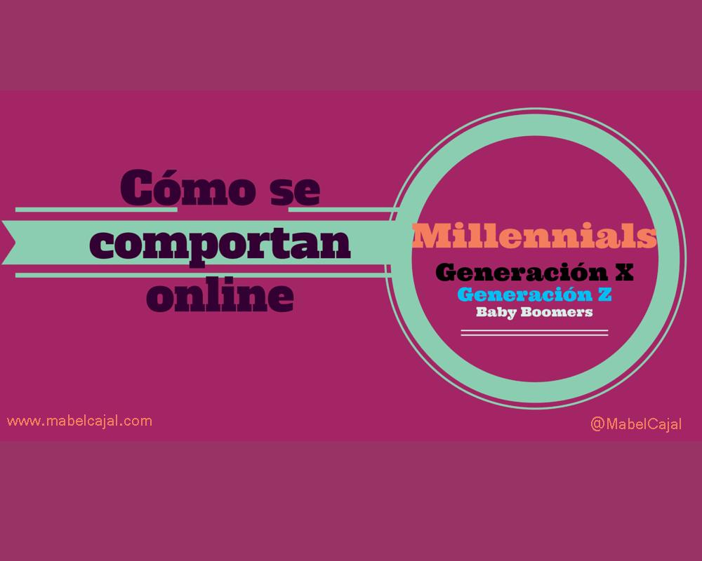 Millennials, Generación X, Baby Boomers ¿Cómo se comportan online?