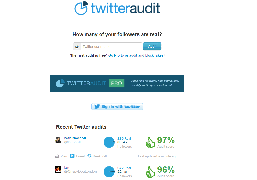 twitter audit seguidores falsos