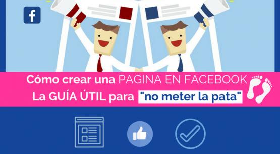 cómo crear una página en facebook